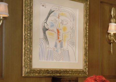 Picasso framed artwork on a superyacht